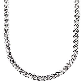Iced out stainless steel BOXED cord chain - 4 mm silver
