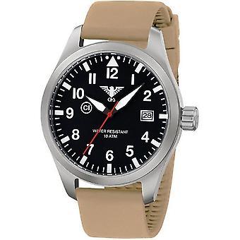 KHS relojes para hombre reloj Airleader acero KHS. VENTILA. ST