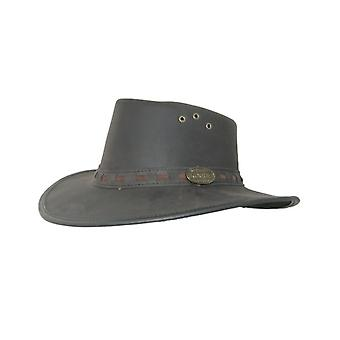 Rogue Explorer Nubuck Leather Hat Chinstrap/Flyband and Metal Badge