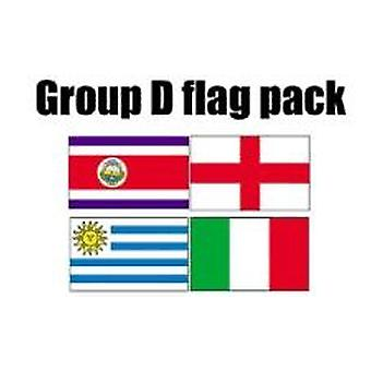 GRUPP D Football World Cup 2014 flagga Pack (5 ft x 3 ft)