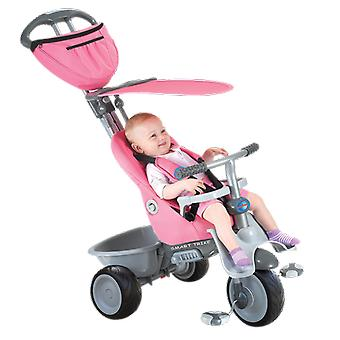 Recliner 4-in-1 Baby Trike - Grey / Pink