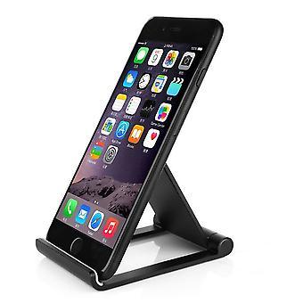 InventCase Premium Aluminium Mobile Phone Smartphone Folding Viewing Adjustable Desktop Stand - Black