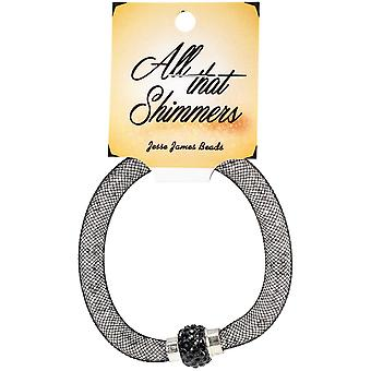All That Shimmers Ready-Made Bracelets-Black