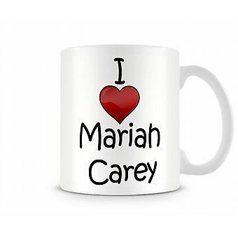 Mariah Carey imprimé J'aime la tasse