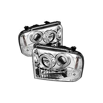 Spyder Auto Ford F250/350/450 Super Duty Chrome CCFL LED Projector Headlight
