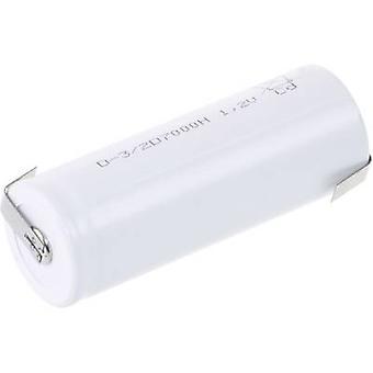 Mexcel D-3/2D7000H niet-standaard batterij (oplaadbare) 3/2 D hoog temperatuurbestendig, Flat top NiCd 1.2 V 7000 mAh