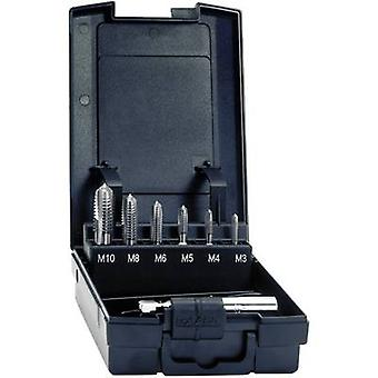 Exact 05937 Tapping head 7-piece metric M3, M4, M5, M6, M8, M10 Right hand cutting DIN 3126 HSS 1 Set