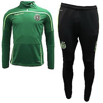 2018 2019 sporting Lizbona Macron Half Zip dres (zielony)