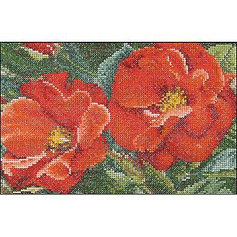 Orangeade Rose On Aida Counted Cross Stitch Kit-6.75