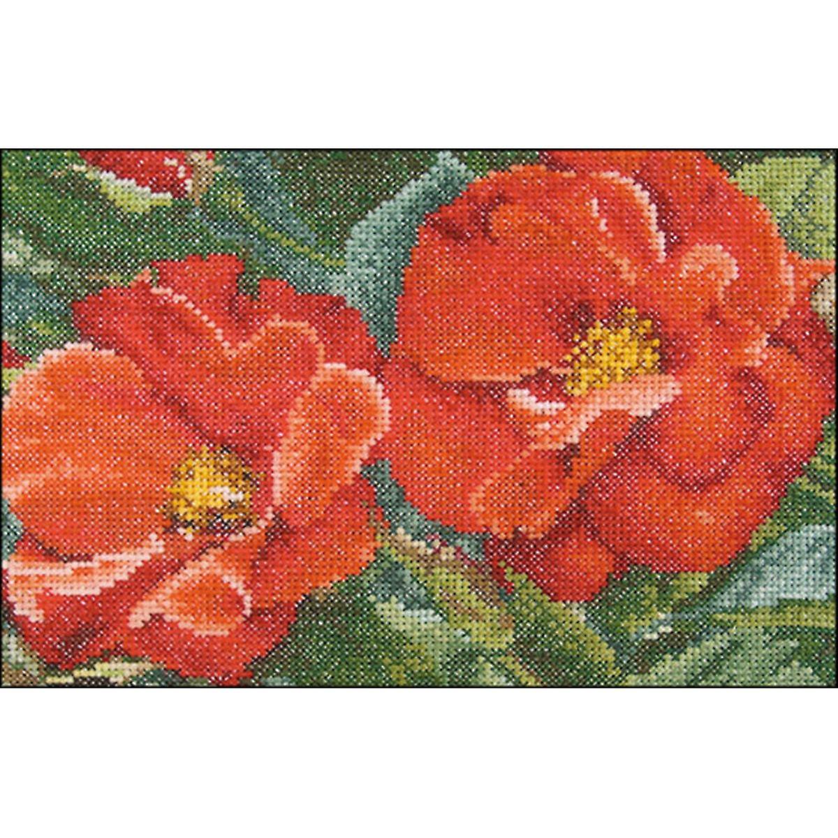 Orangeade Rose sur Aida compté point de croix Kit-6.75 & 034;X4.75  18 Count