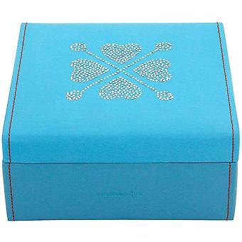 Friedrich leather jewelry case jewelry box BACCARAT blue