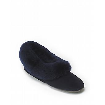 Ladies Seaforth Sheepskin Slippers - Navy