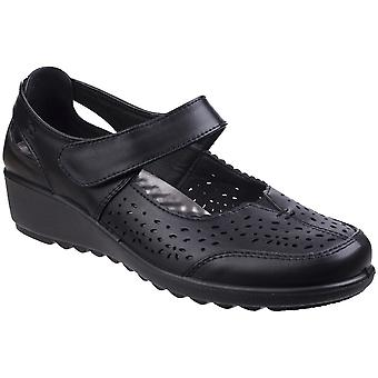 Caravelle Womens Penrith Bar Comfy Lightweight Wedged Shoes