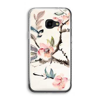 Samsung Galaxy XCover 4 Transparent Case (Soft) - Japenese flowers