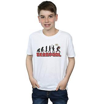 Marvel Boys Deadpool Evolution T-Shirt