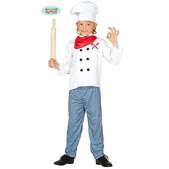 Guirca costume of cooking for children carnival head chef