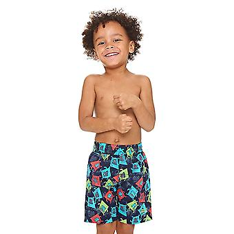 Zoggs Boxer Dog Watershorts Navy/Multi