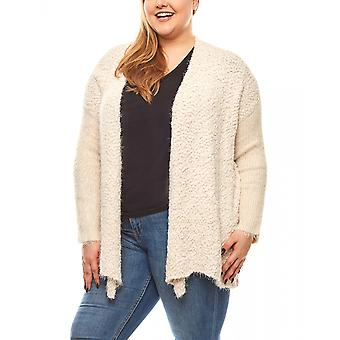 Travel Couture cozy sweater coat, plus size White