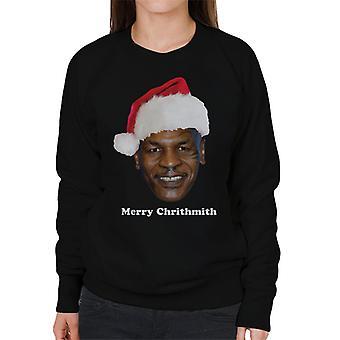 Mike Tyson Frohe Weihnachten Chrithmith Hut Damen Sweatshirt