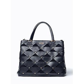 VIVER ファム黒革製のハンドバッグ