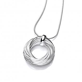Cavendish Franse zilveren Willow krans hanger zonder ketting