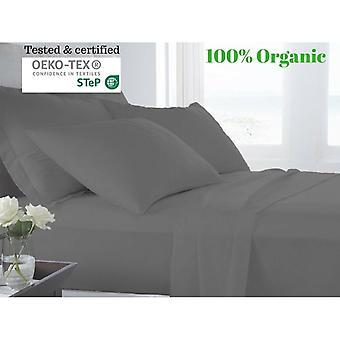 100% Egyptian Cotton Bed Sheet Set (500tc)- Grey