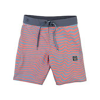 Volcom Scream Red Mag Vibes Elastic - 16 Inch Kids Boardshorts