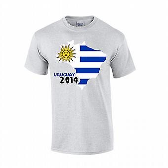 Country Flag T-shirt Uruguay 2014 (grijs)