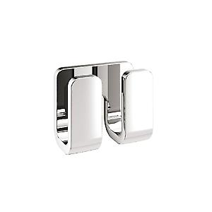 Gedy Outline Double Robe Hook Chrome 3228 13