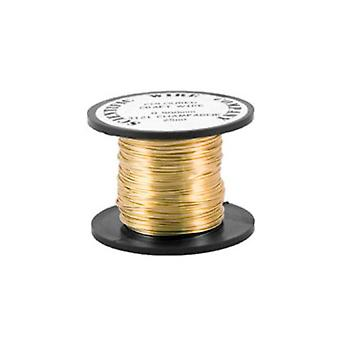 1 x oro plateado cobre 0,8 mm x 6 m redondo arte alambre bobina WG080