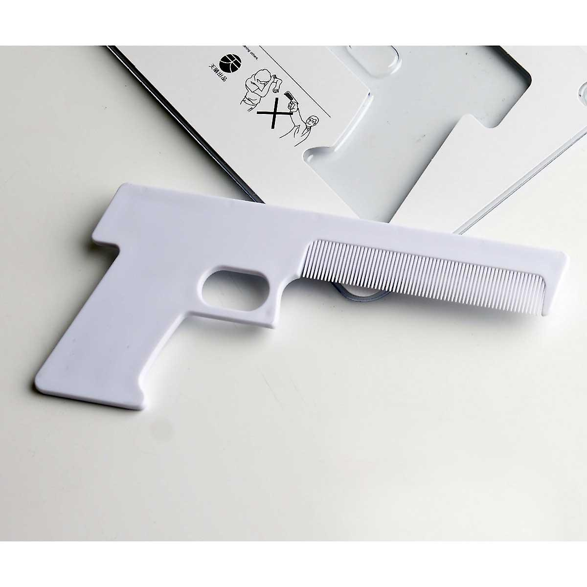 Gun Comb in White