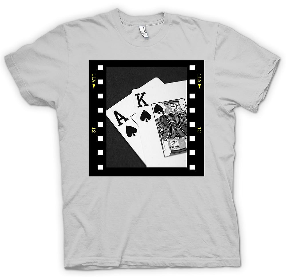 Mens t-shirt-Poker mano Jack Black Ace King