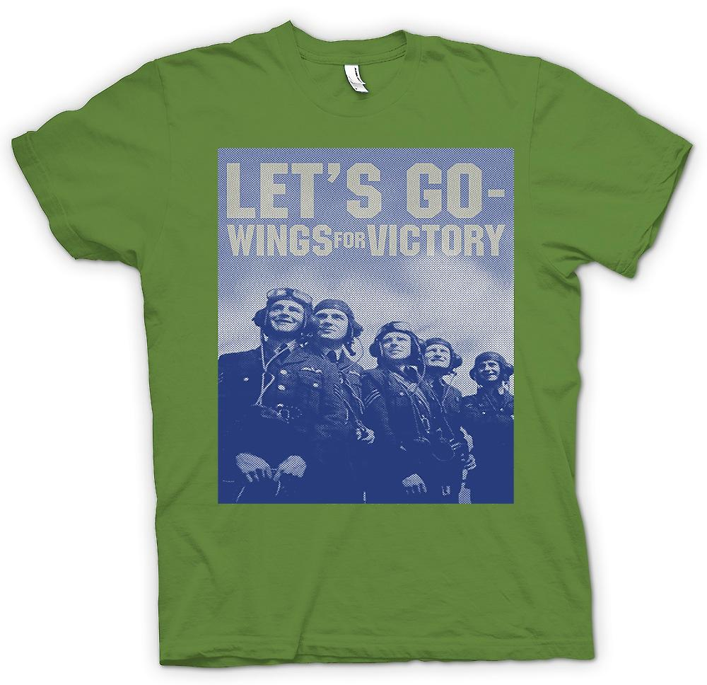 Herr T-shirt - Go Lets - vingar för seger - RAF - Royal Airforce