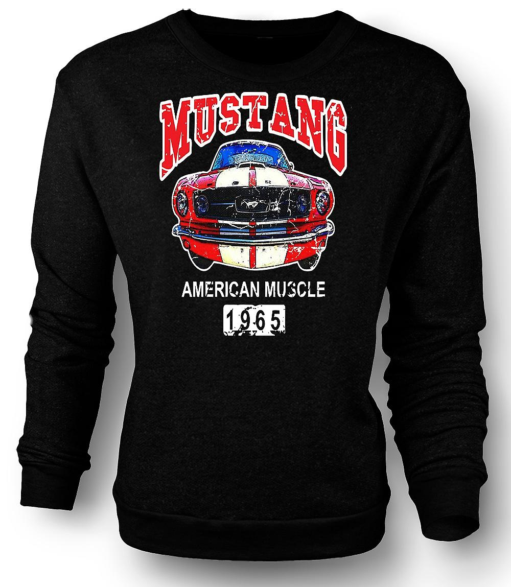 Mens Sweatshirt Mustang 65 Muscle - Car - Classic U.S. voiture