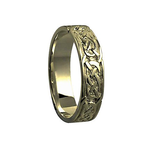 9ct Gold 6mm Celtic Wedding Ring Size Z