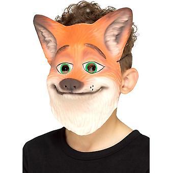 Childrens volpe viso maschera costume accessorio