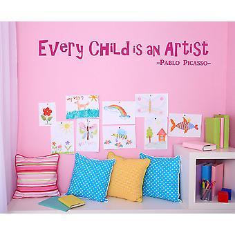 Perché ogni bambino è un artista Wall Sticker