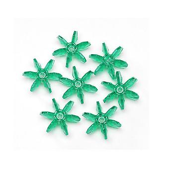 SALE - 1000 Crystal Green 10mm Starflake Beads for Kids Crafts