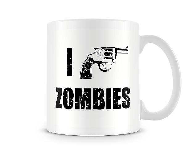 Decorative Writing I Shoot Zombies Mug