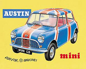 Austin Mini Union Flag Steel Sign