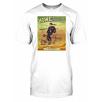Howe Bicycle Tricycles - Vintage Poster - Penny Black Kids T Shirt
