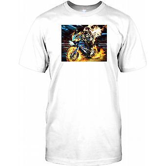 Speeding Biker Design - Track Racer Kids T Shirt