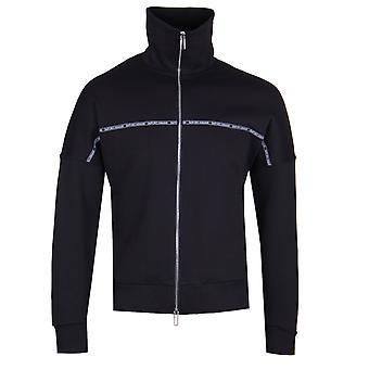 ネイビー ジャケットをフル Zip エンポリオ アルマーニ テーピング