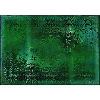 Rugs -Mineheart - Kashan Remix Landscape Rug in Green