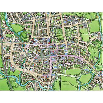 Cityscapes Street Map Of Oxford 400 Piece Jigsaw Puzzle 470mm x 320mm (hpy)