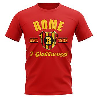 Roma créé Football T-Shirt (rouge)