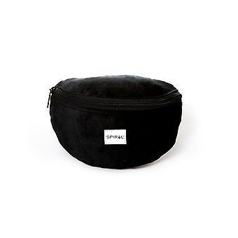 Spiral Black Velvet Bum Bag