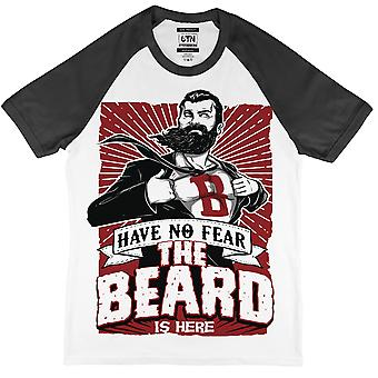 Have no fear the beard is here t shirt superhero funny movember