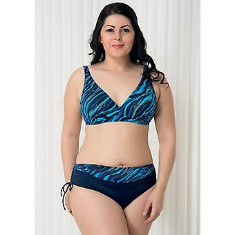 Aqua Perla - Womens -deep Blue- Blue - Bikini Two Pieces- Plus Size