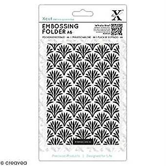 Xcut A6 Embossing Folder Art Deco Pattern (XCU 515207)